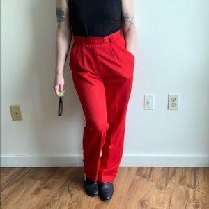 Vintage red slacks